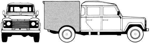 Land Rover 130 Crew Cab blueprints