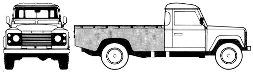 Land Rover 130 Single Cab blueprints
