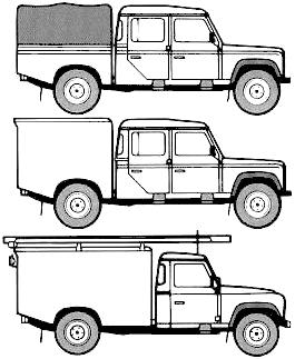 Land Rover 130 blueprints