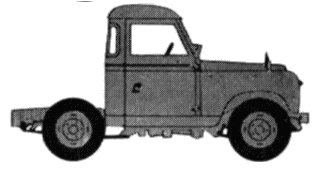 Land Rover 88 S2 Cab Chassis blueprints