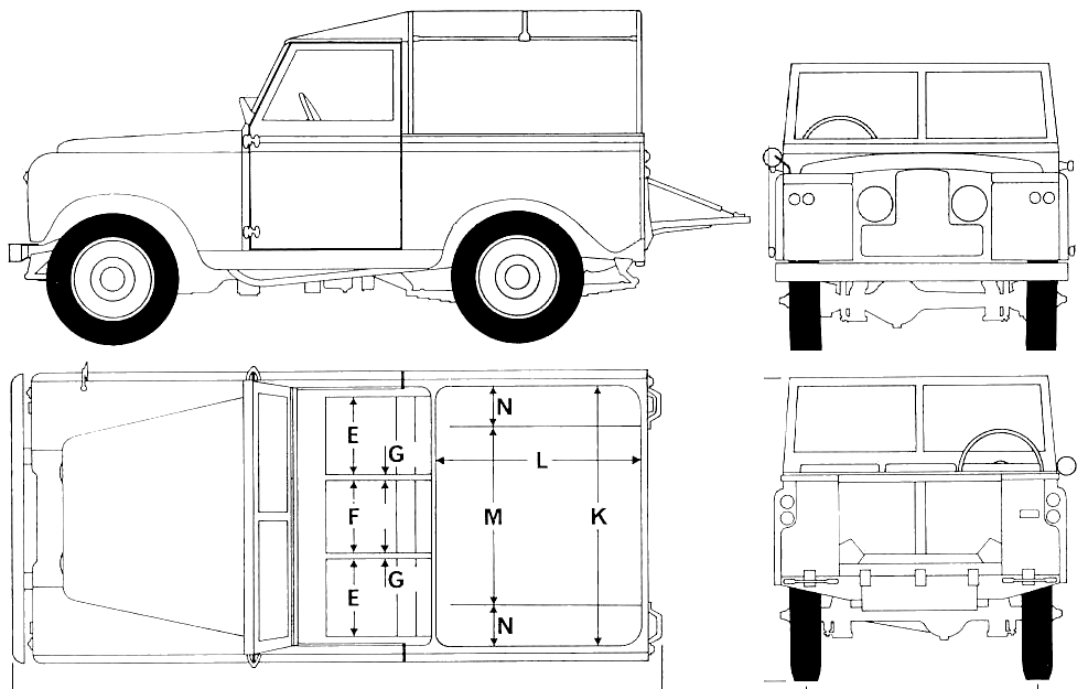 1968 land rover 88 s2 suv blueprints free