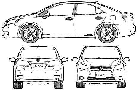 Lexus HS250h blueprints