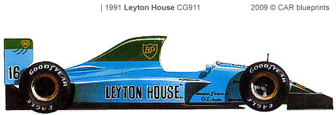Leyton House CG911 F1 blueprints