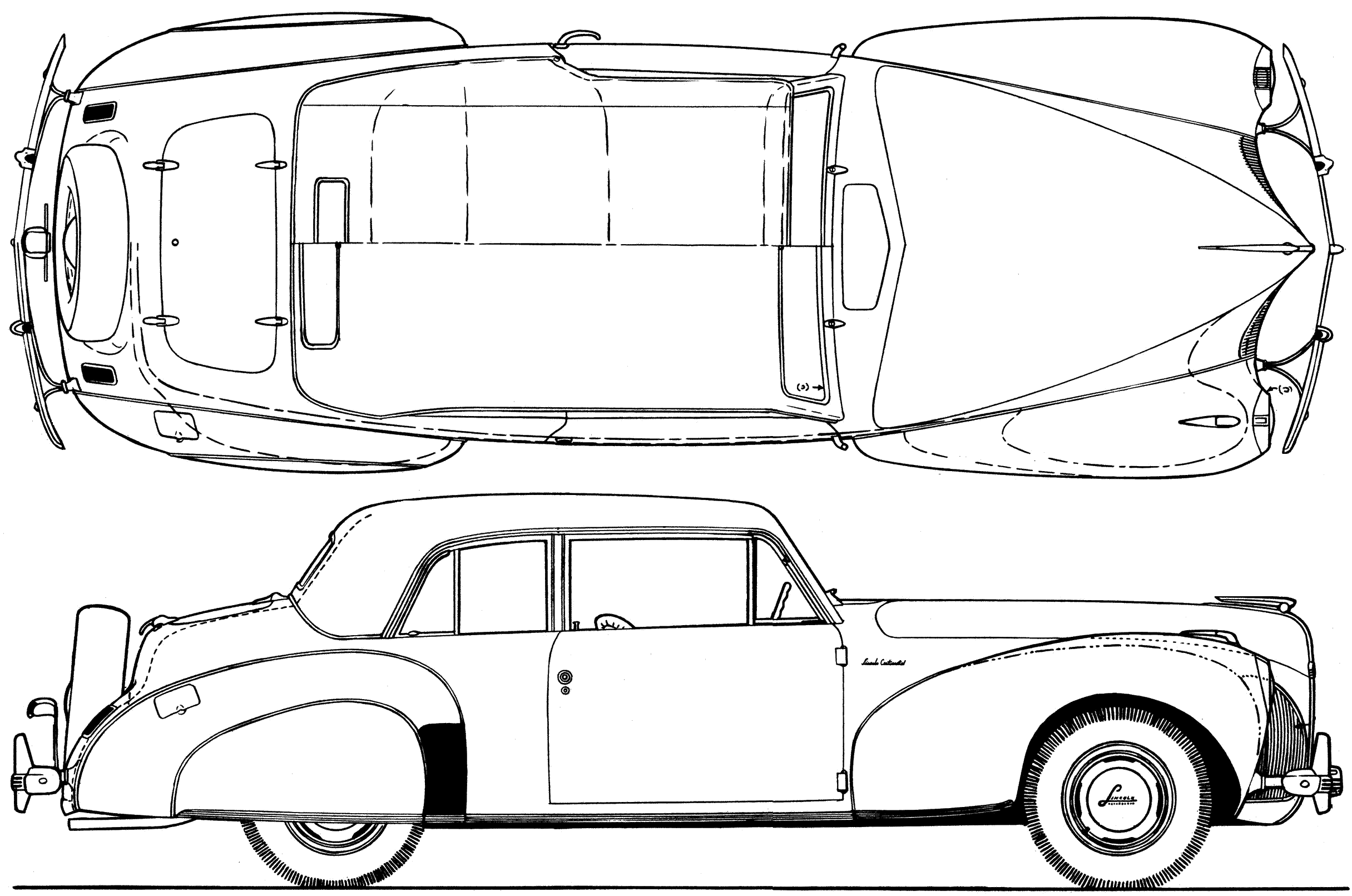 1940 lincoln continental v12 coupe blueprints free