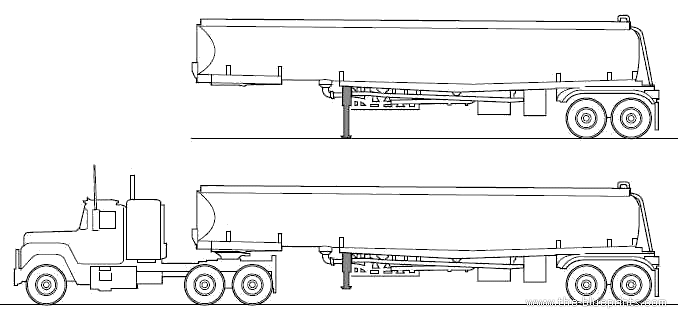 Mack R Tanker Trailer blueprints