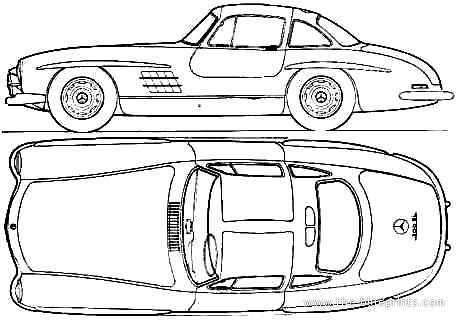 Mercedes-Benz 300SL blueprints
