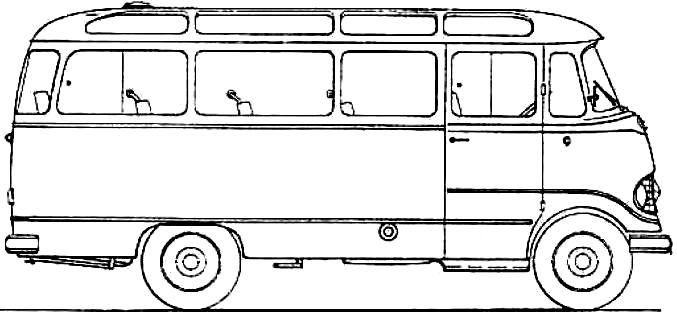 Mercedes-Benz O319 blueprints