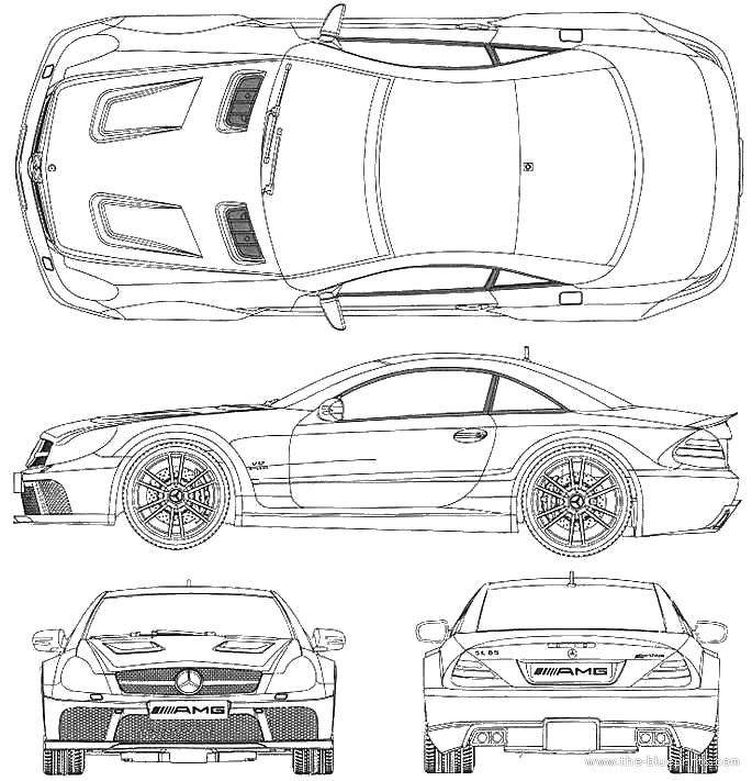 2009 mercedes-benz sl65 amg coupe blueprints free