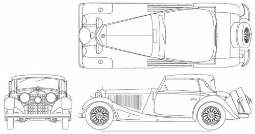 Mercedes-Benz 380 blueprints