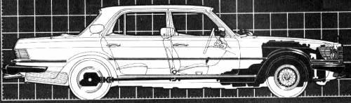 Mercedes-Benz 450SEL blueprints