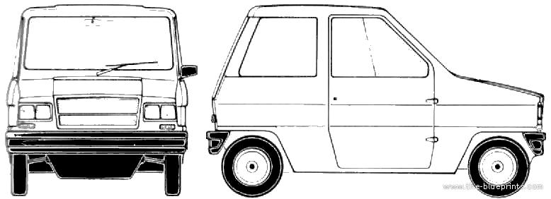 Microcar RJ-49 blueprints