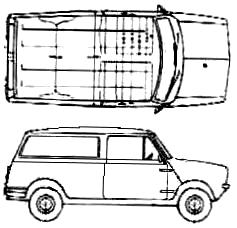 Mini Clubman blueprints