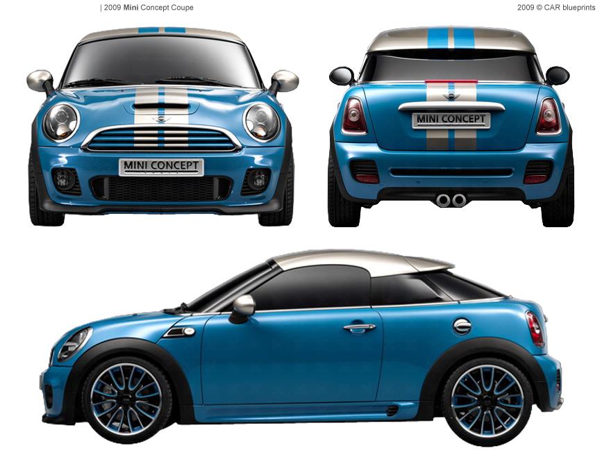 2010 Mini Concept Coupe Blueprints Free Outlines
