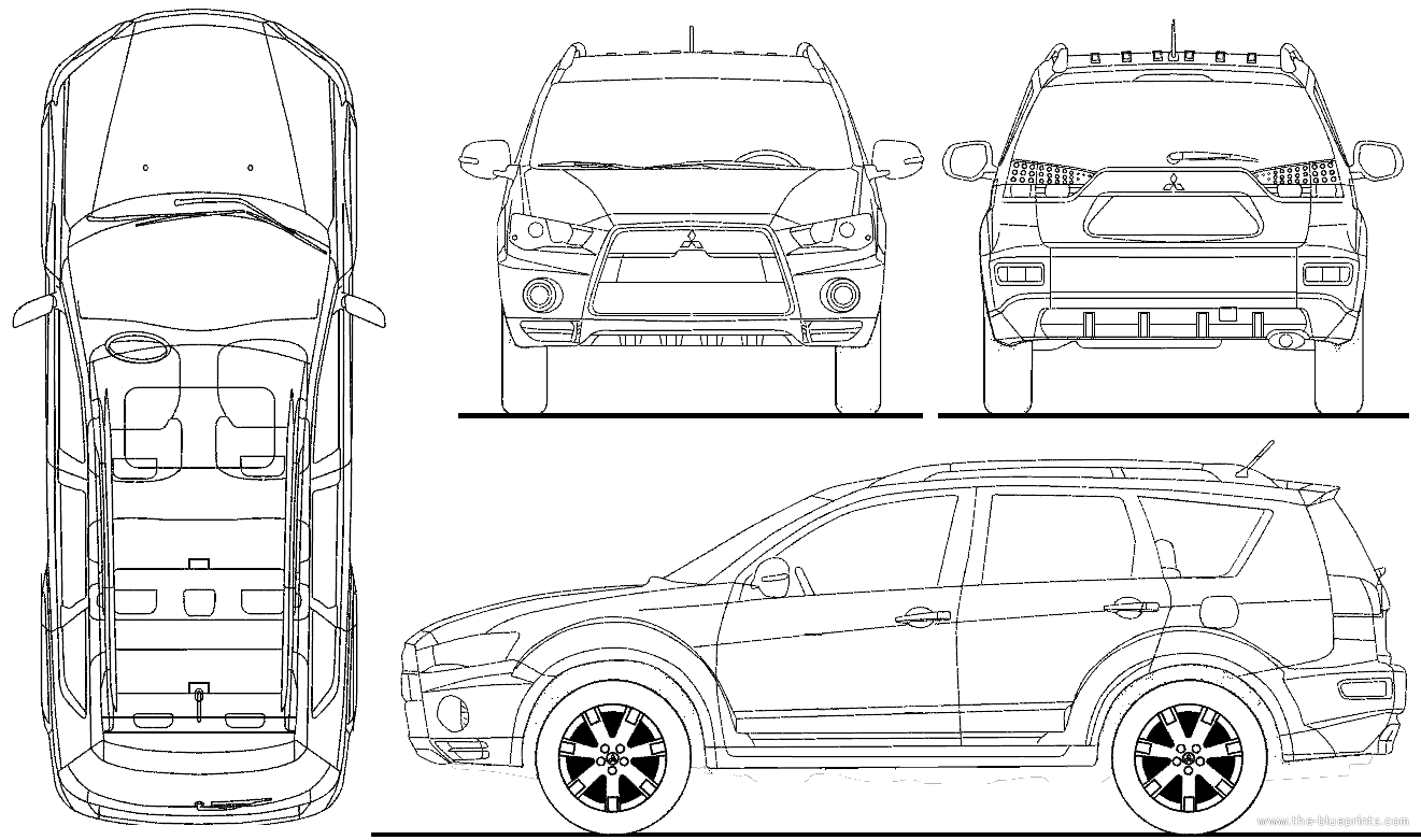 2010 mitsubishi outlander wagon blueprints free