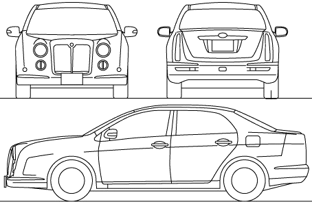 Mitsuoka Galue 204 blueprints