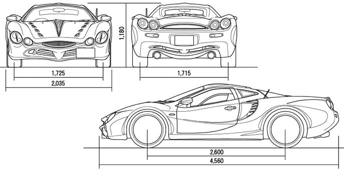 Mitsuoka Orochi blueprints