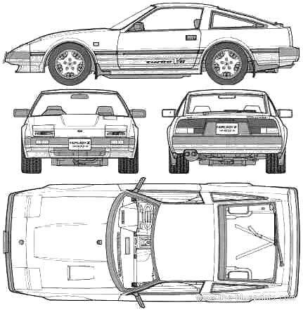 Nissan 300ZX blueprints