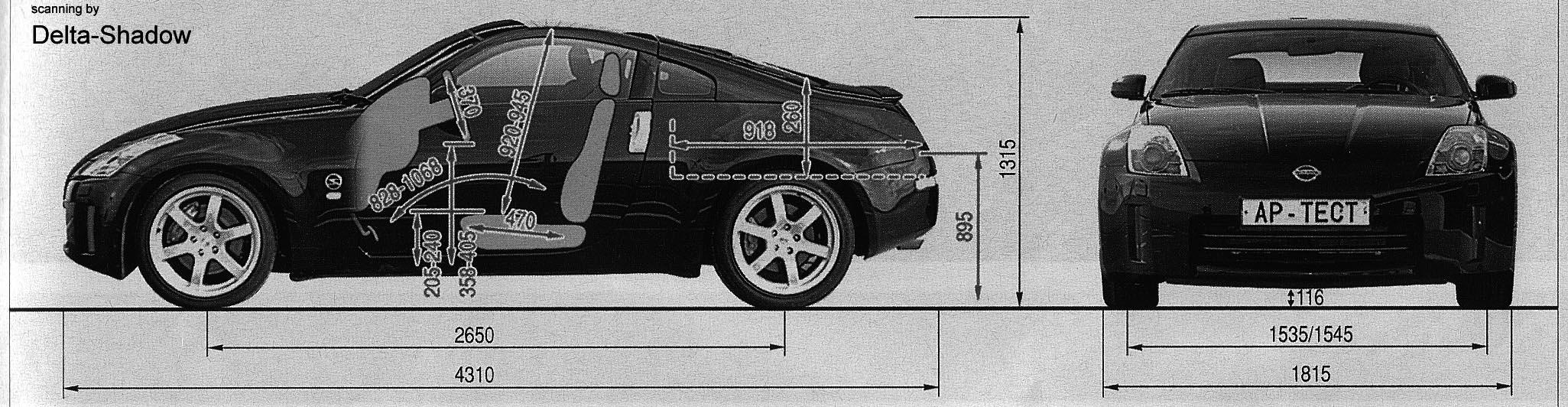 Nissan 350 Z blueprints