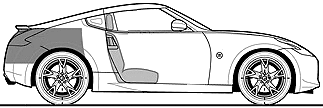 Nissan 370Z GT Fairlady blueprints