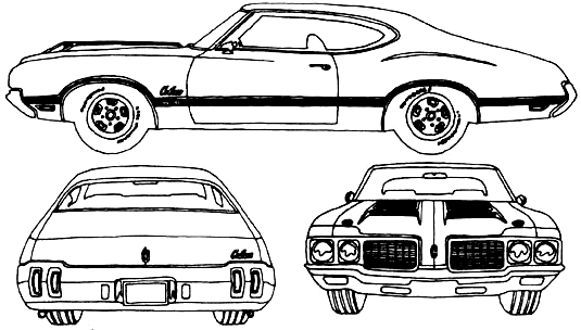 1970 oldsmobile cutlass 442 w31 coupe blueprints free