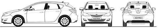 Opel Astra 5-door blueprints
