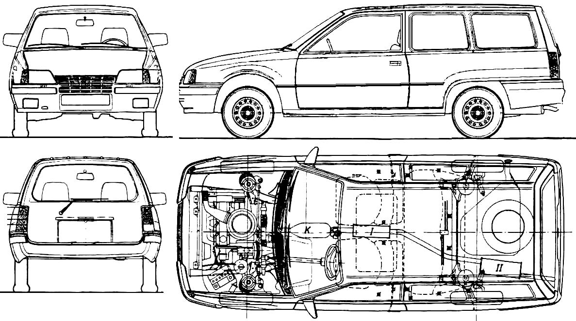 Opel Astra Caravan Facelift Wiring Diagram And Engine Kadett E 1984 Wagon Blueprints