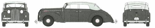 Opel Admiral B blueprints