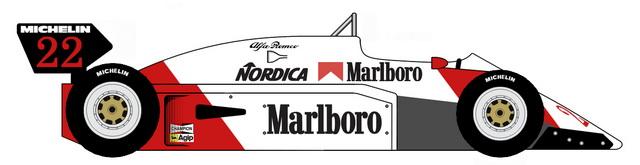 1983 other alfa-romeo 183t formula blueprints free - outlines