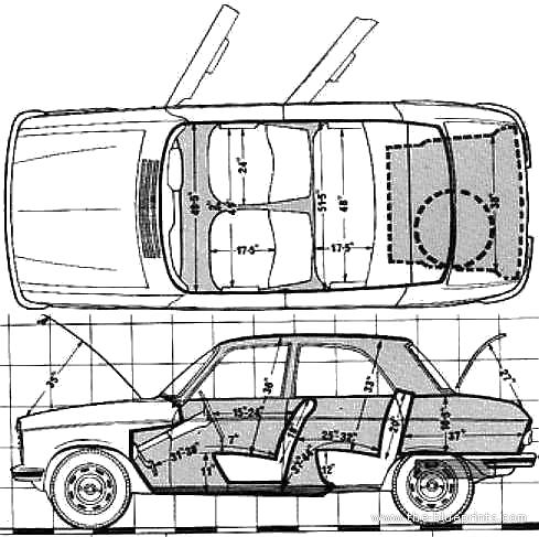 Peugeot 204 blueprints