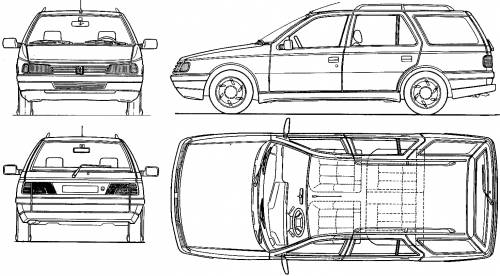 Peugeot 405GR Break blueprints
