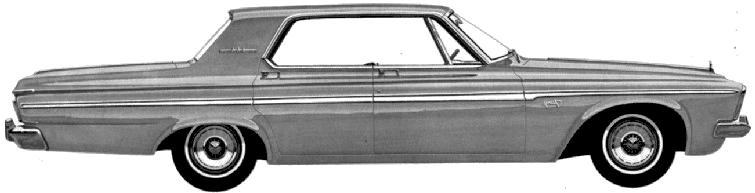 Plymouth Fury 4-door Hardtop blueprints