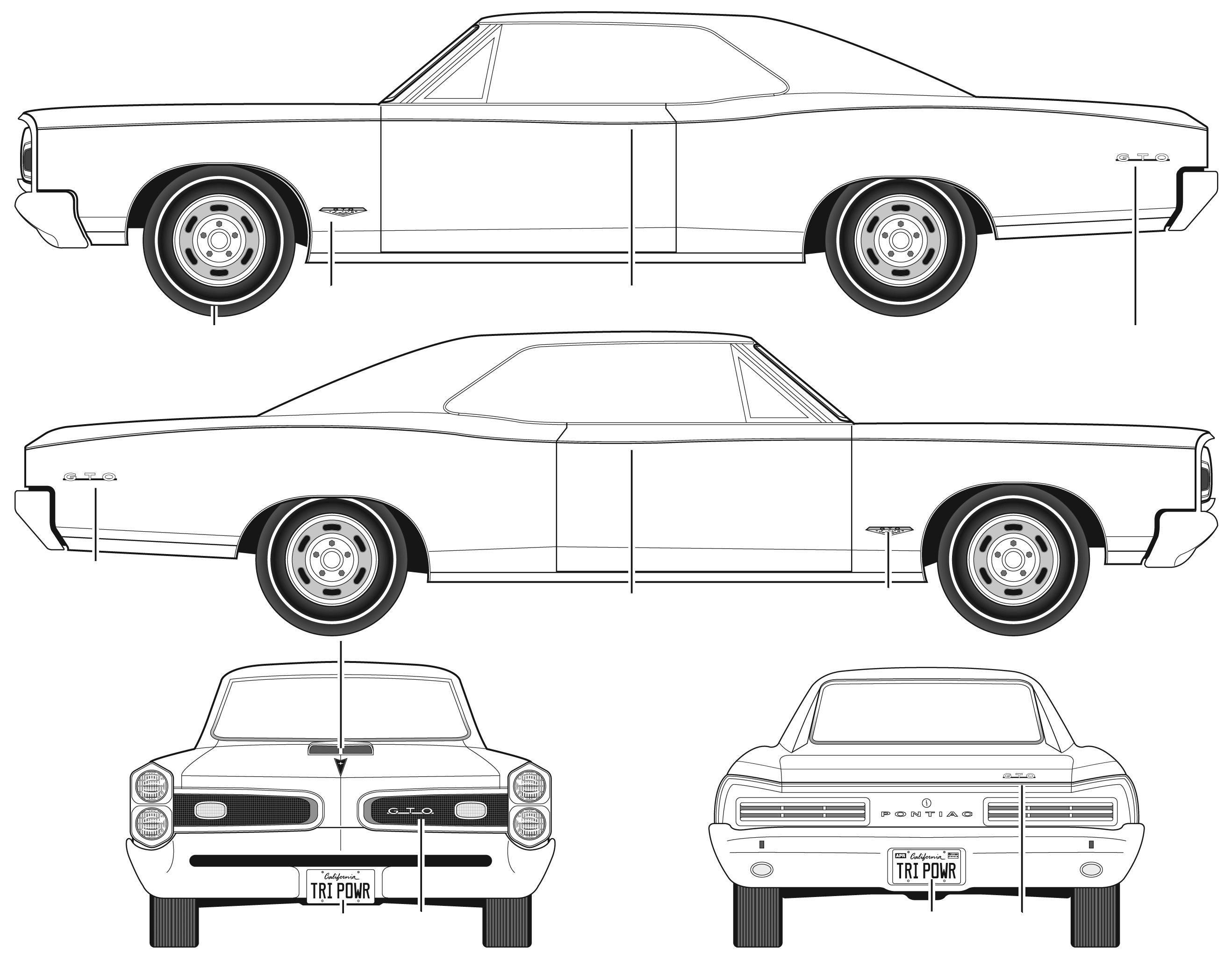 1966 pontiac gto coupe blueprints free