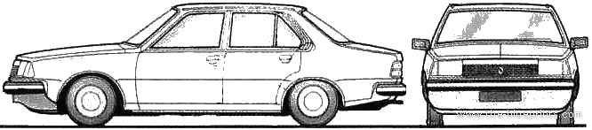 Renault 18 blueprints