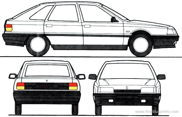 Renault 21 GTS blueprints