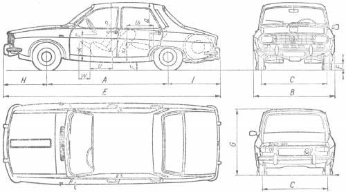 Renault 12/Dacia 1300 blueprints