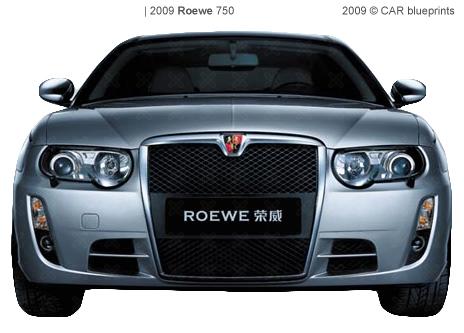Roewe 750 blueprints