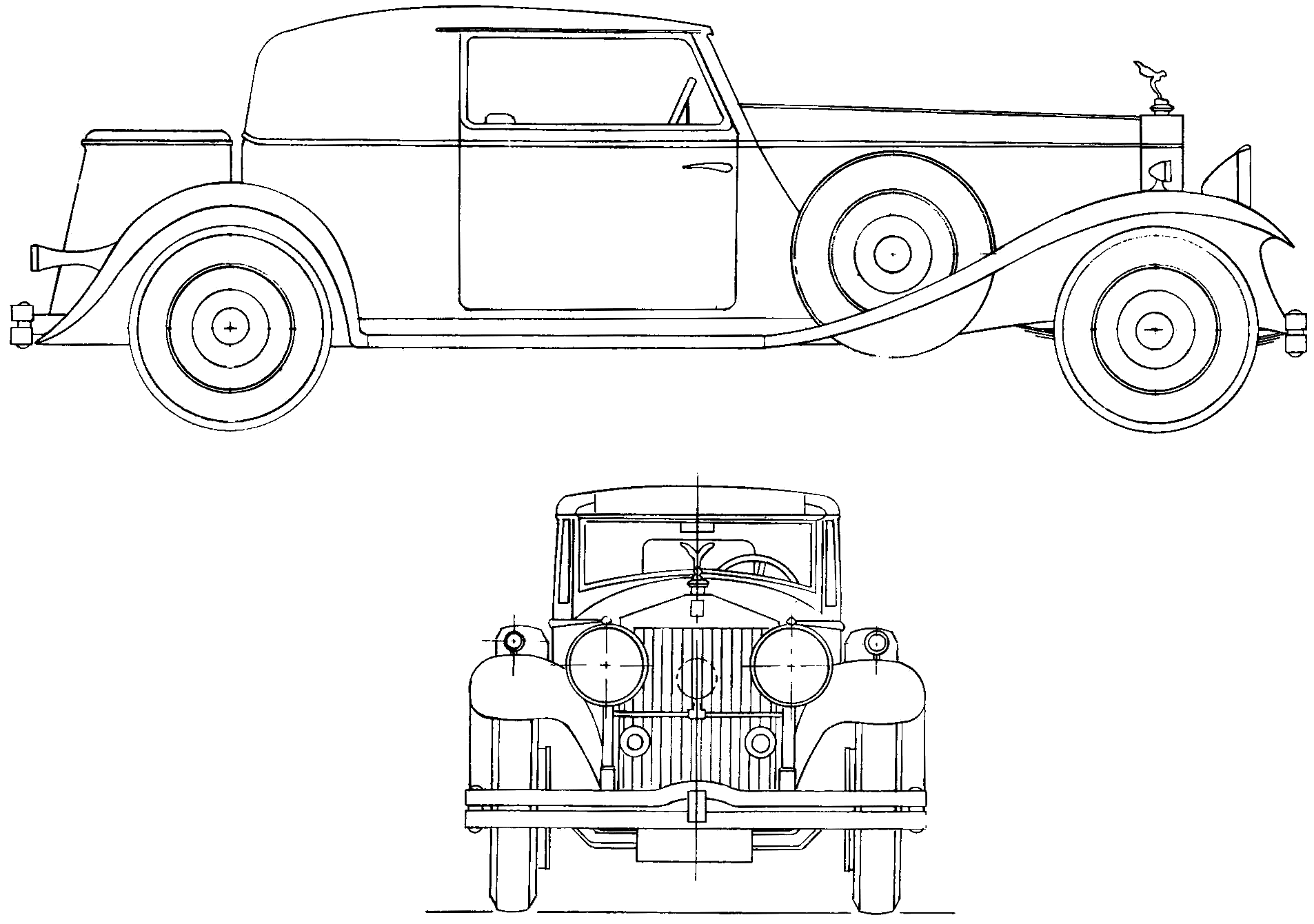 Rolls-Royce Phantom II blueprints