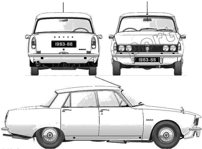 Rover P6 2000 blueprints