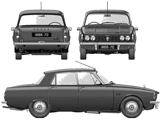 Rover P6 2000TC blueprints