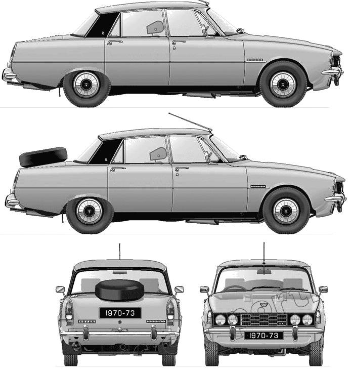 Rover P6 2000TC Series II blueprints