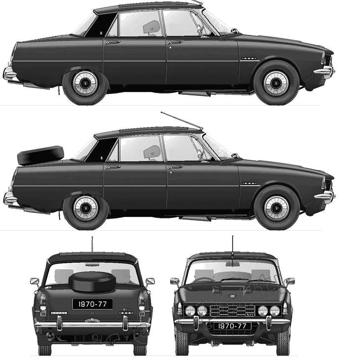 Rover P6 3500 Series II blueprints