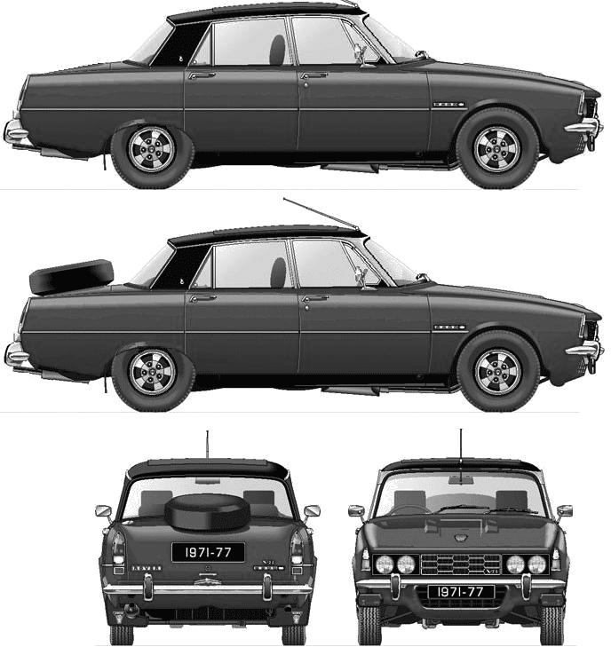 Rover P6 3500S Series II blueprints