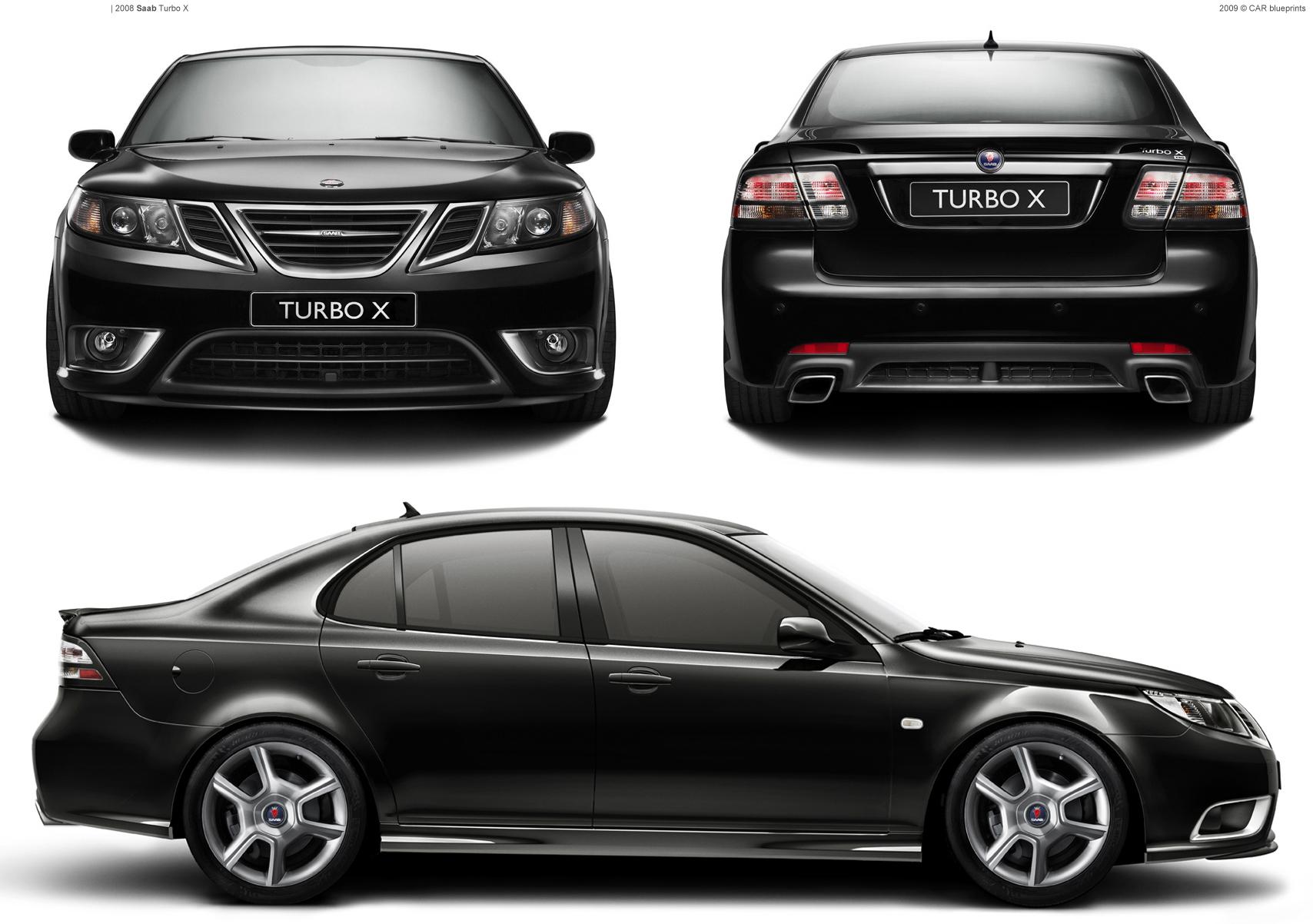 2008 saab turbo x sedan blueprints free