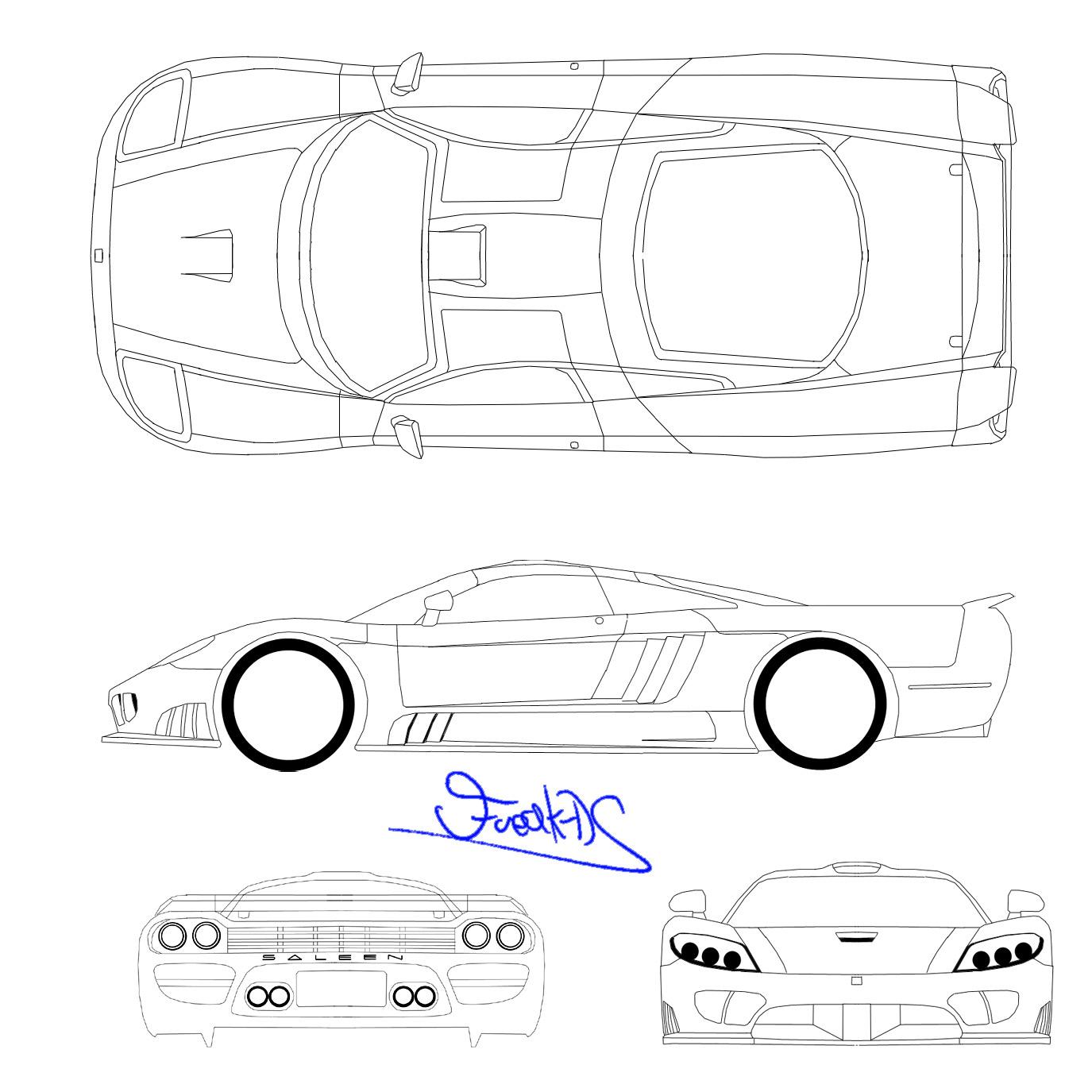 2000 saleen s7 coupe blueprints free
