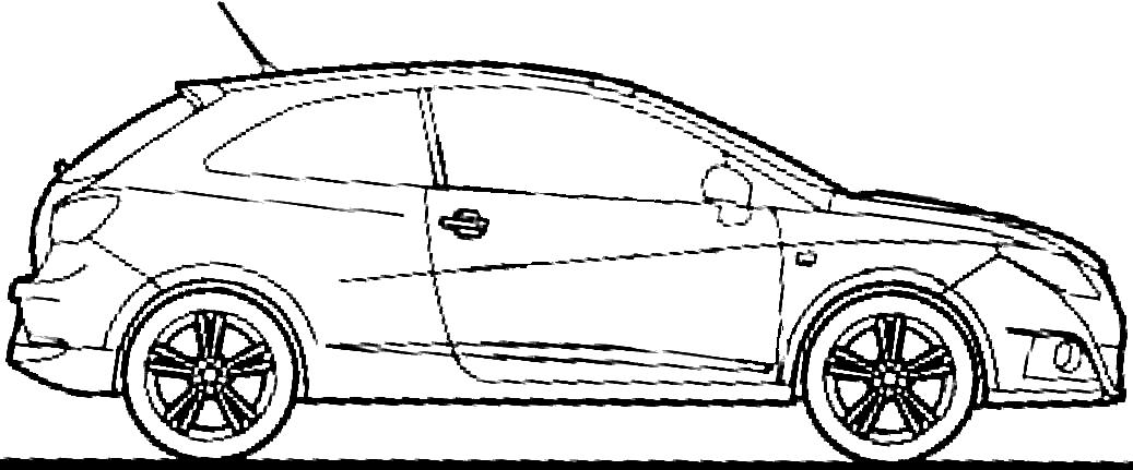 2009 seat ibiza sc hatchback blueprints free