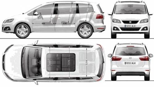Excellent 2011 Seat Alhambra Minivan Blueprints Free Outlines Machost Co Dining Chair Design Ideas Machostcouk