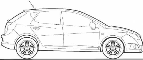 2011 seat ibiza 5 door hatchback blueprints free outlines seat ibiza 5 door blueprints malvernweather Images