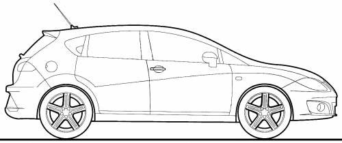 2011 seat leon hatchback blueprints free outlines seat leon blueprints malvernweather Images