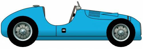 Simca Gordini Type 15 F1 GP blueprints