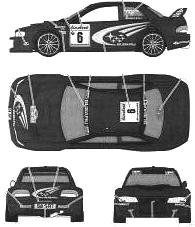 Subaru Impreza WRC Monte Carlo blueprints